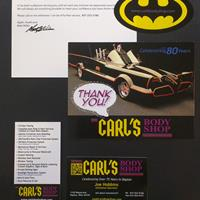 Carl's Thank You and Business Card